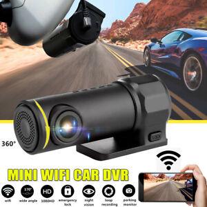 1080P WiFi Car DVR 170° FHD Lens Dash Cam Video Recorder Camera Cam Night Vision