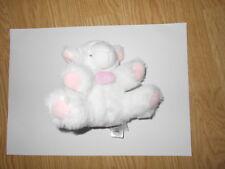 DOUDOU ET COMPAGNIE mouton hochet blanc rose agneau