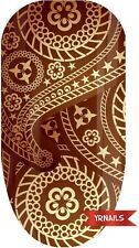 Nail WRAPS Nail Art Water Transfers Decals - Overlap Paisley - W086
