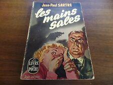 Les Mains Sales Jean-Paul Sartre Le Livre De Poches 1948 Mystery Novel 121415ame