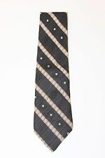 "THE MEN'S STORE Striped Patterned Black Multi Color 4"" Wide 58"" Long Tie USA"