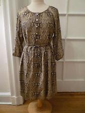 NWT: MARC by MARC JACOBS Python Print 100% Silk Chiffon Dress, Cylinder Grey, M