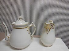 Haviland Limoges Ivy Pattern Coffee/Tea Pot & Milk Pitcher
