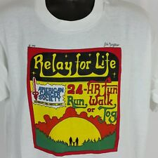 Relay for Life 90s Vintage Mens XL Tee Shirt Humboldt Del Norte Unit Made in USA
