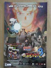 WonderCon 2013 EXCLUSIVE NARUTO Storm 3 signed poster HIROSHI MATSUYAMA