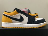 Air Jordan 1 Low Sail University Gold Yellow 553558-127 Size 7-14 100% Authentic
