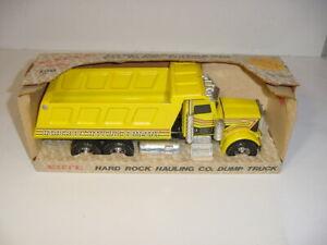 1/25 Vintage Ertl Peterbilt Hard Rock Hauling Company Dump Truck W/Box!