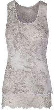 Sharanel sheer knit animal print double layered sleeveless top