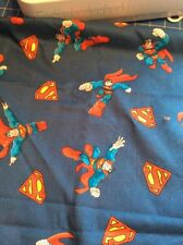 Superman Standard Pillowcase Ooak Handcrafted