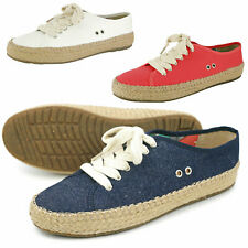 Pamir Womens Canvas Lace Up Flats Espadrilles Loafer Light Weight Sneakers