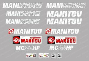 MANITOU MC20HP MANIBUGGIE DECAL STICKER SET