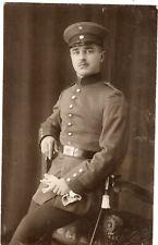 Foto AK Soldat Portrait Rheinhessen Worms 1916 Uniform Koppelschloß 1.WK Militär