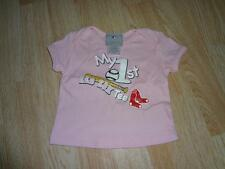 """Infant/Baby Boston Red Sox 3/6 Mo Girls T-Shirt Tee """"My 1st Red Sox Tee"""""""