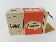 Vintage 1970's Sunbeam White Electric Hand Mixer Mib Nos Small Kitchen Appliance