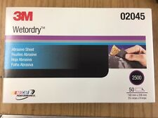 3M™ 02045 Wetordry™ Sheet, 2500 grade, 5 1/2 inches x 9 in, 2045
