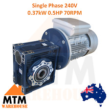 Single Phase 0.37kW 0.5HP 70rpm Type 40 Electric Motor & Worm Gearbox Drive i20