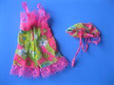 Vintage Barbie Doll PINK FLORAL PRINT TEDDY LINGERIE UNDERLINERS 1821 CLOTHES