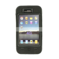 DELUXE BLACK 3PIECE HARD CASE COVER SKIN FOR AT&T IPHONE 4 4G NEW