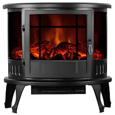 """Adjustable 1500W Heater  23"""" Standing Electric Fireplace Stove Realistic Flame"""
