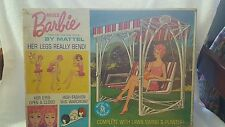 HTF VINTAGE BARBIE DOLL AND SWING SET WITH BOX.