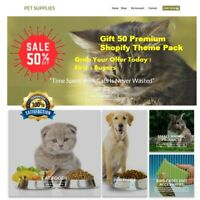 Shopify Dropshipping Pet Supplies Store/Website with  premium Theme