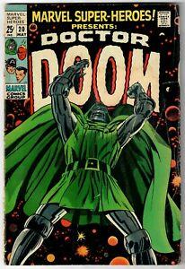 Marvel Super-Heroes (1967) #20 Solo Doctor Doom 1st Valeria Thomas Lieber GD/VG