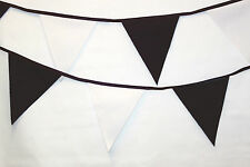 Newcastle United bunting colours ** 10 mtr ** Black and White flags