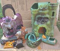 HUGE MOTU He-Man Toy VTG LOT Playsets Castle Grayskull-Snake Mountain Wind-