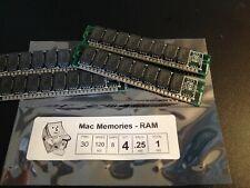 4x 256KB 30-Pin 120ns Non-Parity SIMM Vintage Mac PC Atari Memory 1MB RAM Set