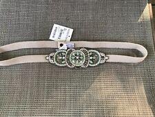GLINT Women's Crystal Chain Stretch Belt - Size M/L *NEW (w/defect)