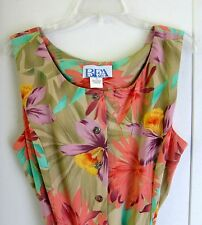 BFA CLASSICS Women's Breezy Long Summer Dress Sz 16 sleeveless USA NEW MINT