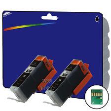2 Negro Compatible Impresora Cartuchos De Tinta Para Canon Pixma ip7250 Impresora [ 550 ]