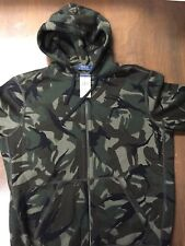 NEW POLO RALPH LAUREN CAMO CAMOUFLAGE FULL ZIP HOODIE JACKET SZ L Large Freeship
