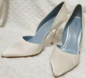 Kurt Geiger Size 40 White Bond Pumps Comfiest Stiletto High Heel wedding shoes