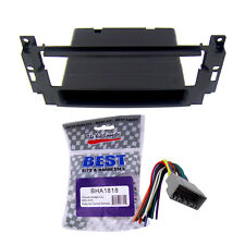 Radio Replacement Dash Mount Install Kit Single Din with Harness for Mitsubishi