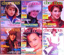 (Z8)Lot de 6 CHEZ NOUS années 80; Mode,Santé, Cuisine, Beauté, Forme, Jardinage