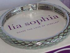 Lovely Lia Sophia Mint HONEY LUST Stretch Bracelet, Comes w/Lia Sophia Box