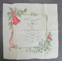1919 Presidio of San Francisco Christmas Dinner Menu, CA