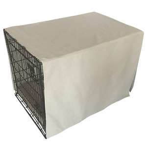 The Uppity Puppy Linen Beige Solid Designer Dog Crate Cover