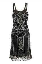 Ziegfeld Embellished Dress Black