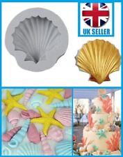 SEA SHELL CLAM SCALLOP 3D Sea Silicone Fondant Cake Topper Mould Mold Beach