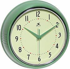 1950s Style Wall Clock Retro Kitchen Garage Workshop Metal Round Classic Vintage