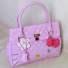 HelloKitty Lock  Handbag Tote Shoulder Bag 2018  New  Pu Bow  Pink