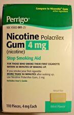 Perrigo Nicotine Polacrilex Gum 4mg Mint 110 Pieces ( EXP. 9 / 2021 ) or better.