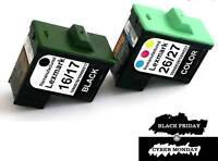 2PK REMANUFACTURED LEX #16 26 INK CARTRIDGE 10N0016 10N0026 FOR Z513 Z615