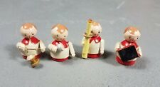 "Vintage Sevi Handpainted Alter wood Boy Figures Italy 1.5-2"" wooden miniatures"