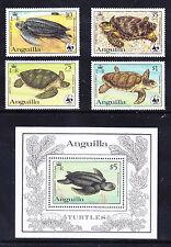 ANGUILLA 1983 SG560/MS564 Turtles set of 4 + mini-sheet - unmounted mint cat £47