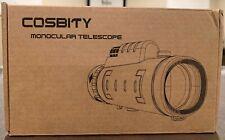 Cosbity High-Power Monocular Telescope Scope-12x50 Dual-Focus Waterproof *Nib!*