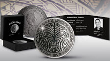 1 Oz Silber Reverse Proof Maori Moko Tokelau 2017 Black Rhodium silver ounce