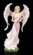 Engel Figur - Irin mit Herz - Rosa Fee Elfe Liebe Geschenk Pink